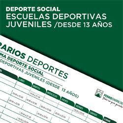 Escuelas Deportivas Juveniles - Desde 13 años